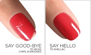 shellac before and after ,nail bar